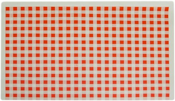 Frischhaltepapier 1/4 Bogen 375mmx500mmx7mu rot kariert