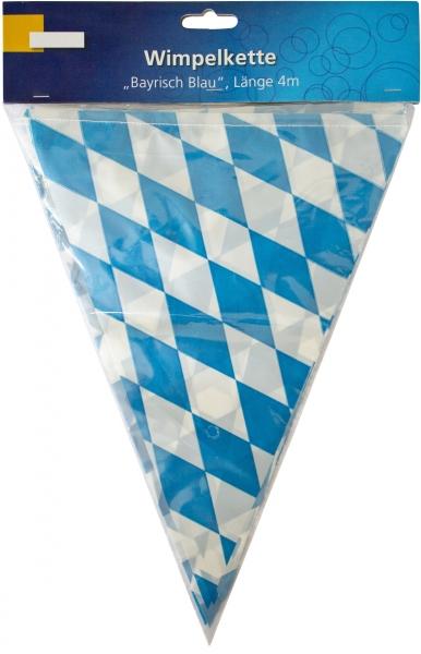 Wimpelkette Bayrisch Blau 4m