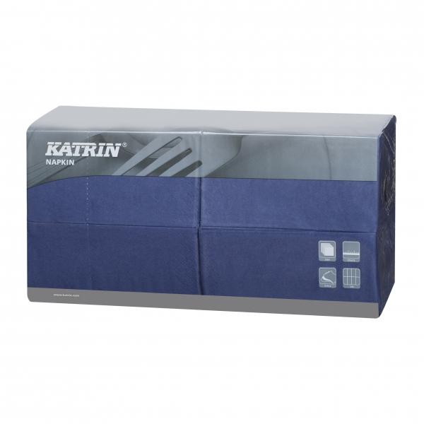 Blau Katrin Premium Servietten papier 330mm 3-lagig 1/8 Falz