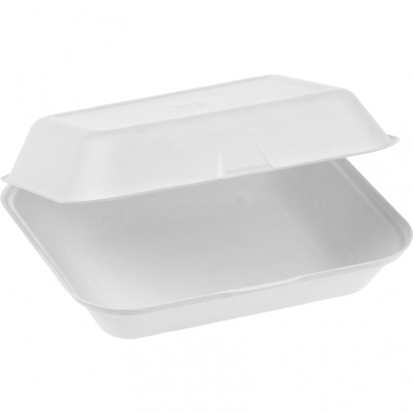 Zuckerrohr Food Box mit Klappdeckel extra gross 23,5x19,5cm 7,5cm tief