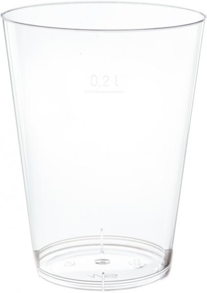 Trinkglas ps 100ml Spritzguss glasklar