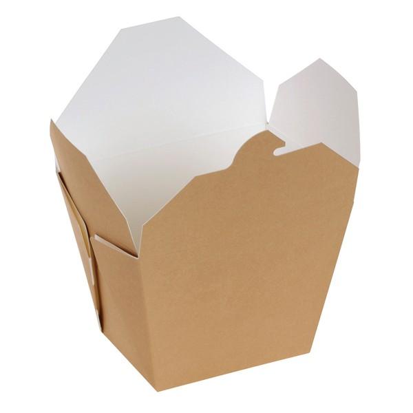 Take away Box mit PLA-Beschichtung braun/weiß 85x65x90mm 700ml, naturesse