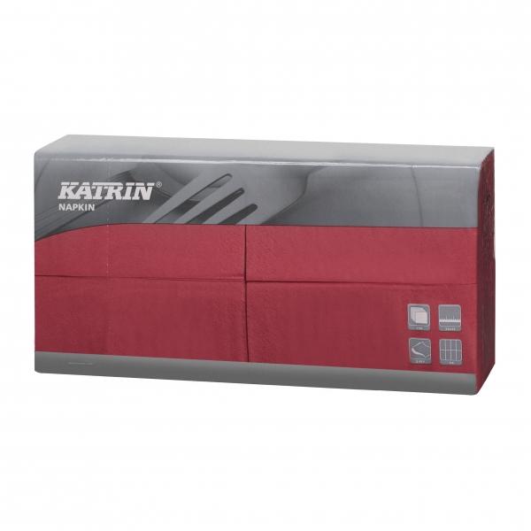 Bordeaux Katrin Premium Servietten papier 330mm 3-lagig 1/8 Falz