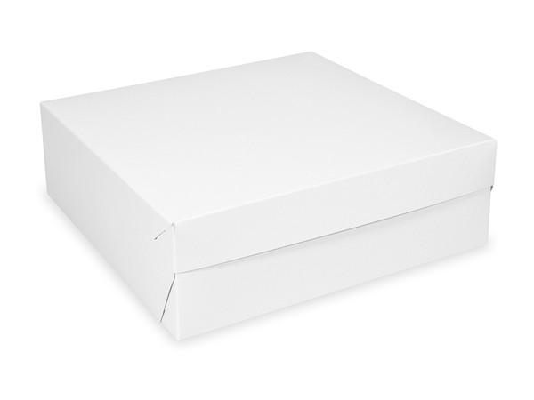 Tortenkarton pp 1-teilig weiß, 180x180x90mm