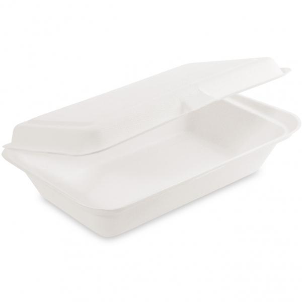 Lunch-Box Bio aus Zuckerrohr 250x162x63mm