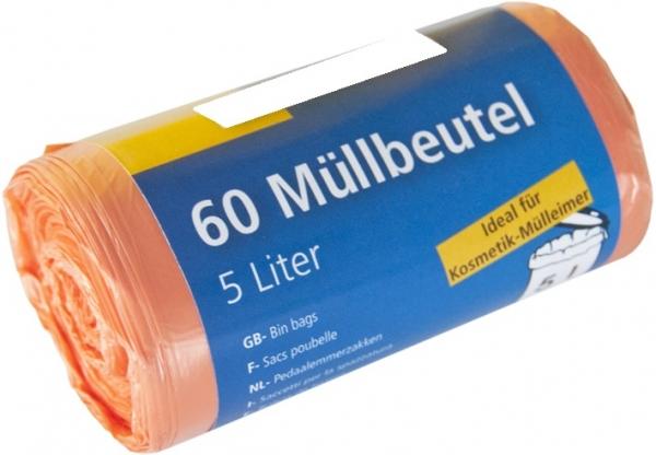 Mini-Müllbeutel, 5l, Rolle, rosa, HDPE