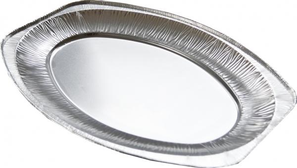Alu-Servierplatte oval 445x295mm