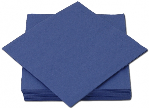 Blau Premium Servietten papier 330mm 3-lagig 1/4 Falz