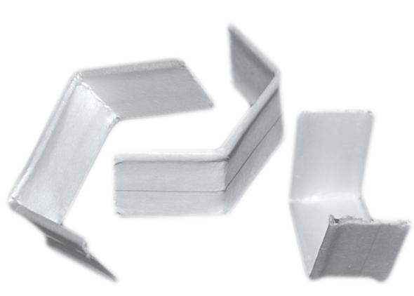 Verschluss-Clipse 120mm weiß für Bodenbeutel