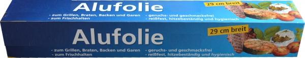 Alufolie alufarbend 290mmx10mx10my in Faltschachtel