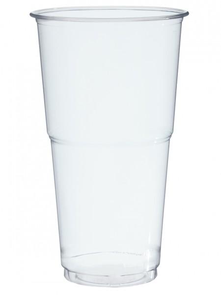 Bierbecher pp glasklar 500ml mit Schaumrand