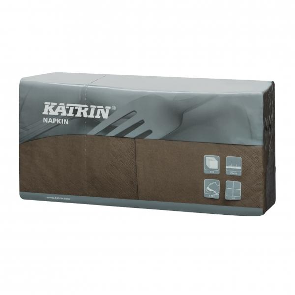 Mocca Katrin Premium Servietten papier 240mm 3-lagig 1/4 Falz