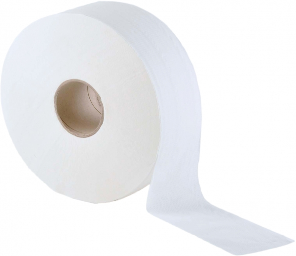 Jumbo-Toilettenpapier 2-lagig, ø18 cm, hochweiß - 12 Rollen AG-021