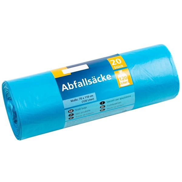 Abfallsäcke, 120l, Rolle, blau, HDPE