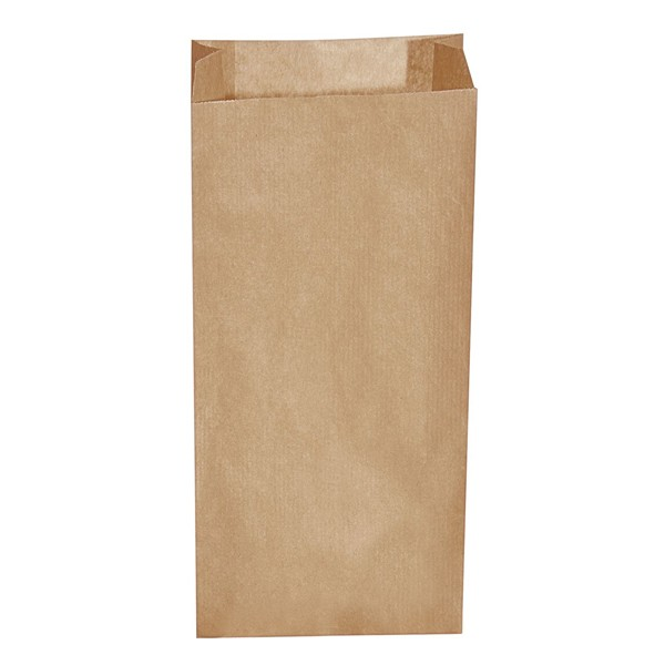 Papier Faltenbeutel braun 5 kg (20+7 x 43 cm)