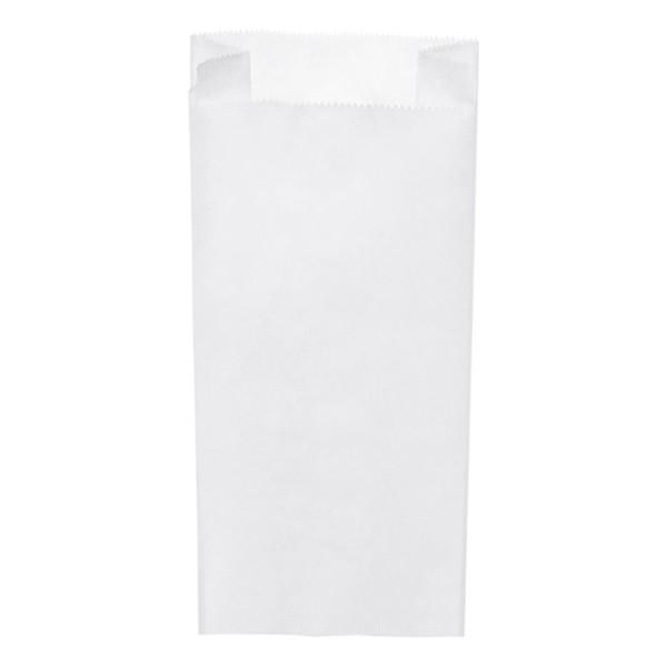 Papier Faltenbeutel weiß 5 kg (20+7 x 45 cm)