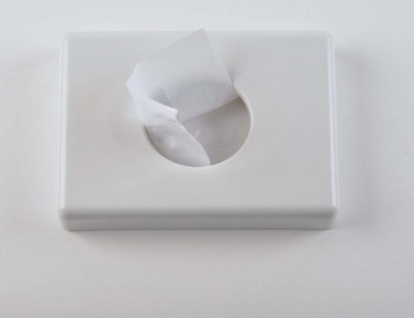 Spender für Hygienebeutel 95x135x30mm, PE-Beutel, weiss (für 984,985) - 1