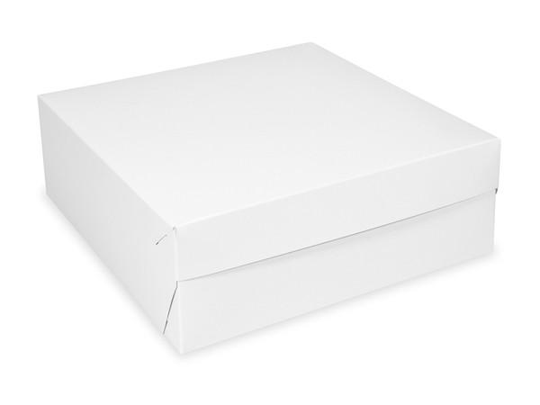 Tortenkarton pp 1-teilig weiß, 200x200x100mm