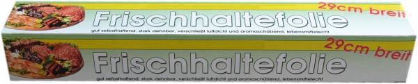 Frischhaltefolie transparent 290mmx30mx9my mit Säge in Faltschachtel
