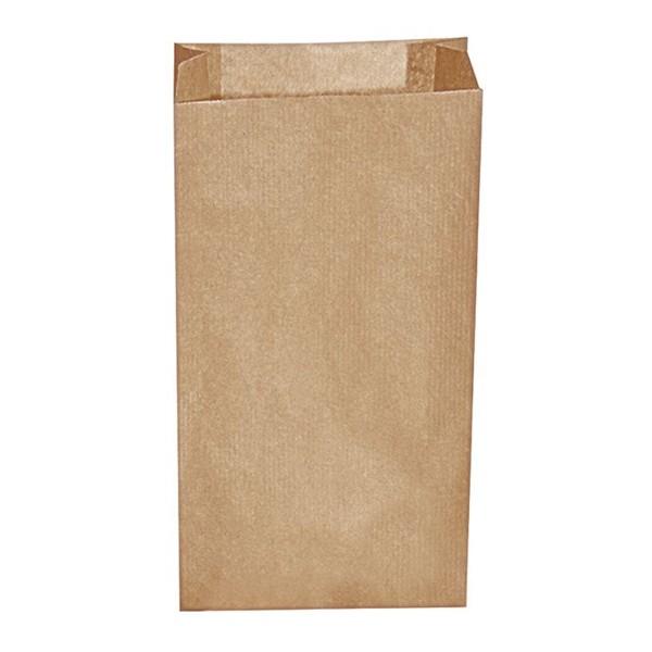 Papier Faltenbeutel braun 0,5 kg (10+5 x 22 cm)