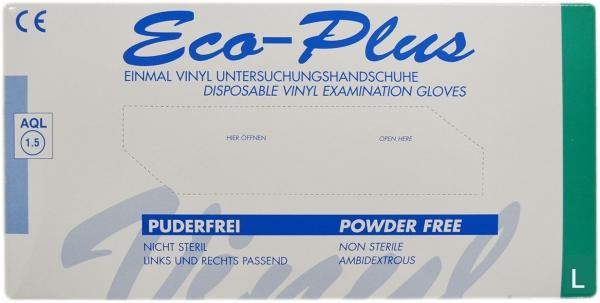 Vinyl Handschuhe L Ungepudert transparent