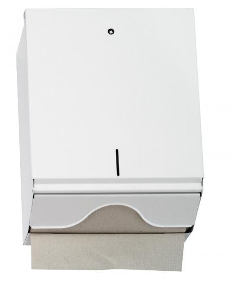 Spender für Papierhandtücher 270x330x130mm, 500St., metall/weiß - 1