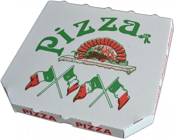 """Pizzabox 1 ppk 240x240x30mm mit Motiv """"Treviso Kraft"""""""