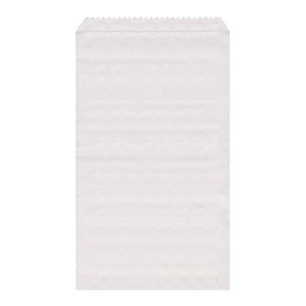 Papier Flachbeutel weiß 8 x 11 cm