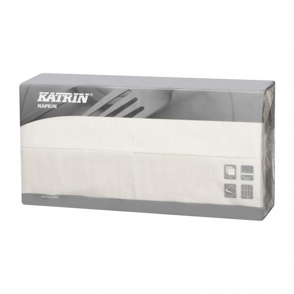 B2 Weiß Katrin Premium Servietten papier 400mm 3-lagig 1/8 Falz