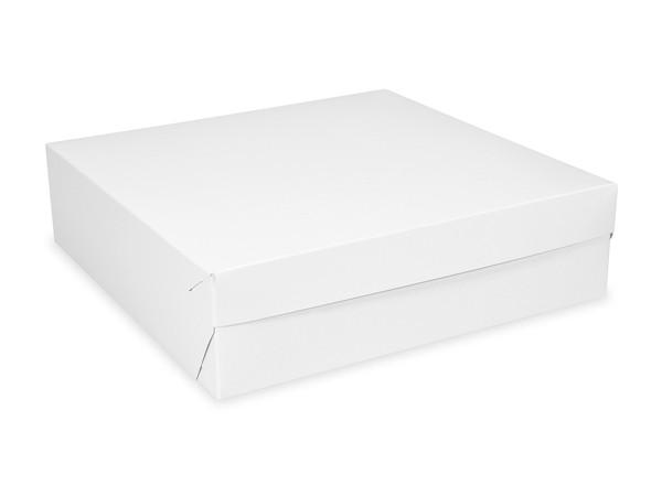 Tortenkarton pp 1-teilig weiß, 220x220x90mm