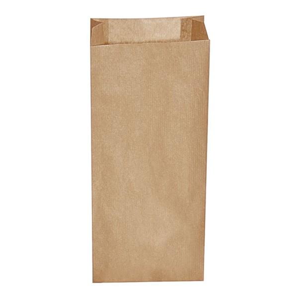 Papier Faltenbeutel braun 2 kg (14+7 x 32 cm)
