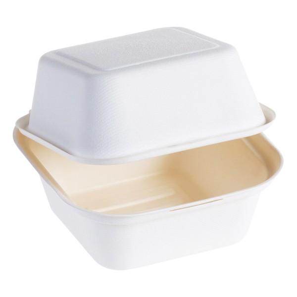 Zuckerrohr Burger Box 17,6x17,6x12,0cm mit Klappdeckel, naturesse