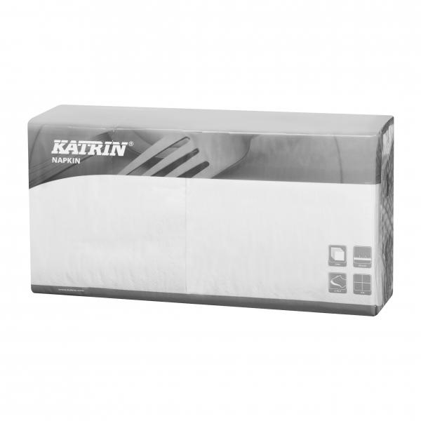 B7 Weiß Katrin Servietten papier 240mm 2-lagig 1/4 Falz