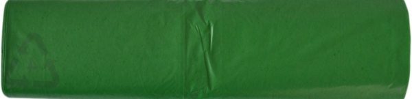 Müllbeutel LDPE grün 70L 570x1000mm auf Rolle Typ 60