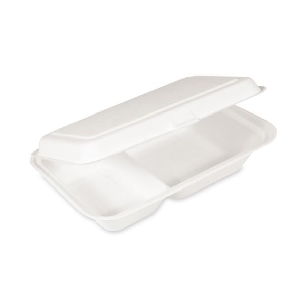 Bio Lunch-Box 2-geteilt aus Zuckerrohr 250x162x63mm