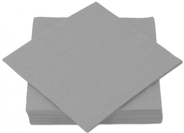 Silber Premium Servietten papier 330mm 3-lagig 1/4 Falz
