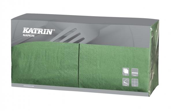 Grün Katrin Premium Servietten papier 330mm 3-lagig 1/4 Falz