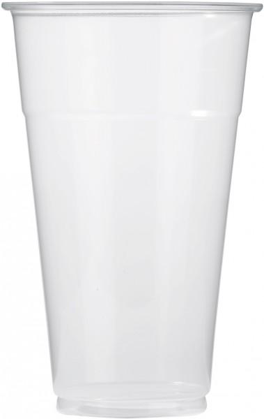 Bierbecher pp glasklar 300ml mit Schaumrand