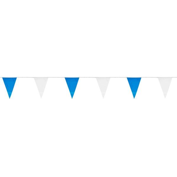 Wimpelkette blau/weiß 30cm x 10m