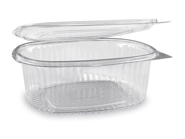 Feinkostbecher oval klar mit Deckel 1000 ml (PET)
