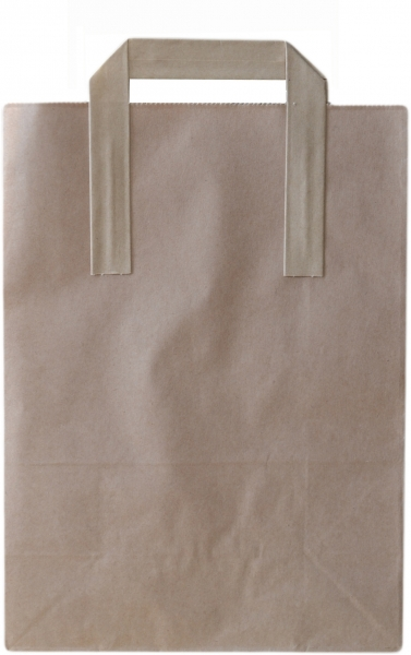 Tragetasche Papier braun 220x105x300mm