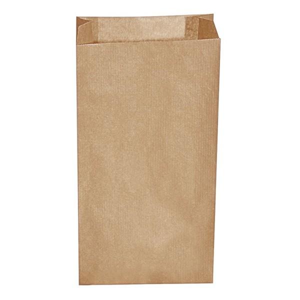Papier Faltenbeutel braun 1,5 kg (14+7 x 29 cm)