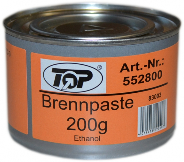 Brennpaste in Dose 200g ca. 2,5h 72 Dosen