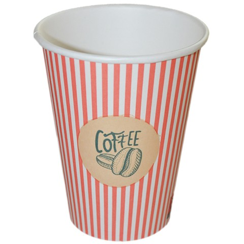 """Espressobecher aus Pappe 100ml, Motiv """"Kaffeebohnen"""", Coffee to Go"""