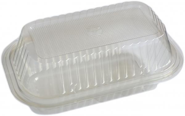 Salatbox eckig 1500ml pl transparent 220x130x90mm mit Deckel