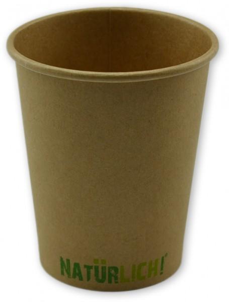 """Bio Espressobecher ,Coffee To Go Becher ppk 200ml, 8oz braun Kraft """"Natürlich"""", kompostierbar"""