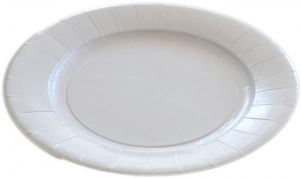 Pappteller fettdicht rund 290mm fettdicht flach ppk weiß