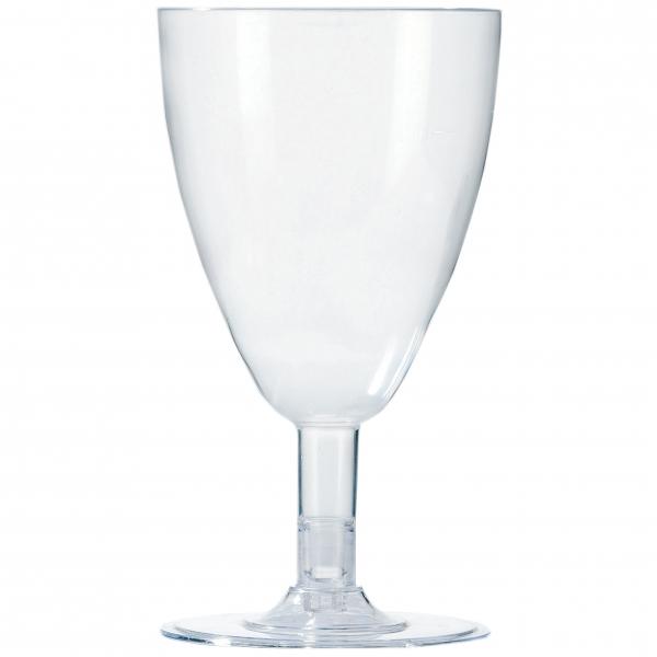 Trinkbecher Weingläser ps 200ml glasklar mit Fuß