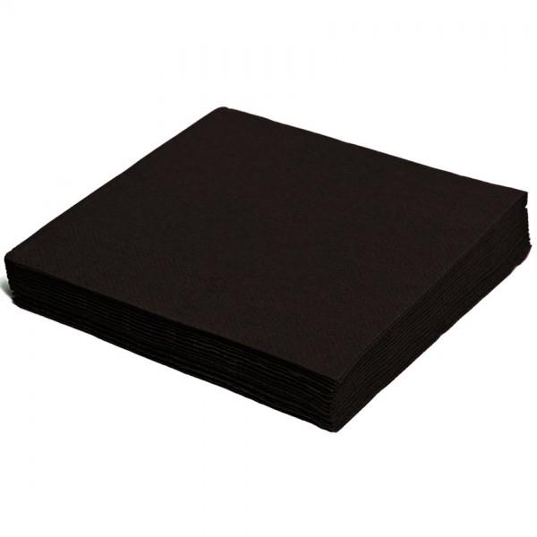 Servietten papier schwarz 240mm 2-lagig 1/4 Falz