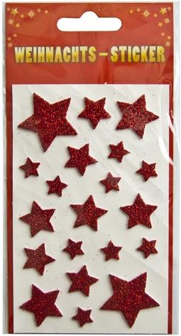 """Weihnachts-Sticker mit Motiv """"Sterne Rot"""""""